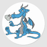 Cute Blue Dragon Stickers
