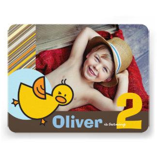 Cute Blue Duckies Ducks Kid Boy Birthday Invite
