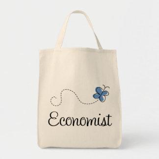 Cute Blue Economist Tote Bag