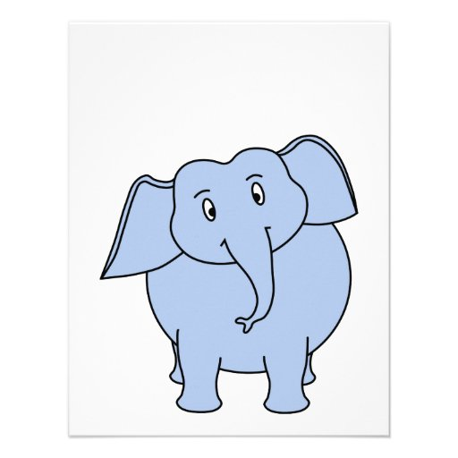 Cartoon blue elephant