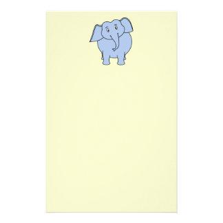Cute Blue Elephant Cartoon. Stationery