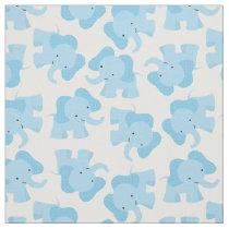 Cute Blue Elephant Nursery Fabric