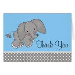 Cute Blue Elephant Thank You Cards