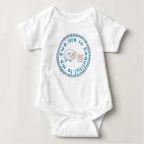Cute Blue Ewe Are So Beautiful To Me Sheep Baby Bodysuit
