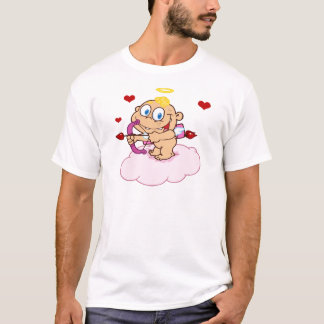 Cute Blue Eyed Cupid with Bow and Arrow T-Shirt
