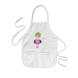 Cute Blue Eyes Ballerina Art Gifts Kids' Apron