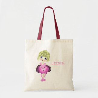 Cute Blue Eyes Ballerina Art Gifts Tote Bag