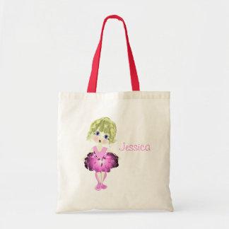 Cute Blue Eyes Ballerina Art Gifts Tote Bag