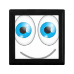 Cute blue eyes funny smiling face jewelry boxes