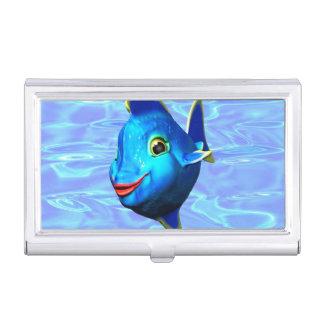 Cute Blue Fish Cartoon Business Card Holders