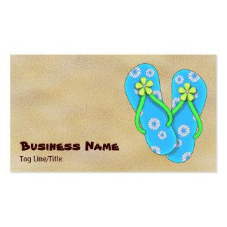 Cute Blue Flip Flop Beach Business Cards
