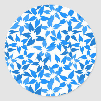 Cute Blue floral sticker