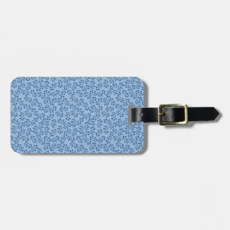 Cute Blue Flower and Heart Japanse Pattern Luggage Tag