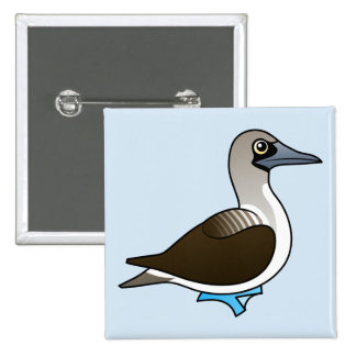 Cute Blue-footed Booby Button