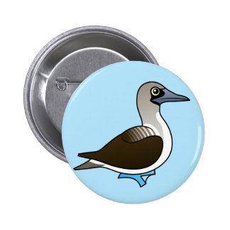 Cute Blue-footed Booby Buttons