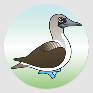 Cute Blue-footed Booby Classic Round Sticker