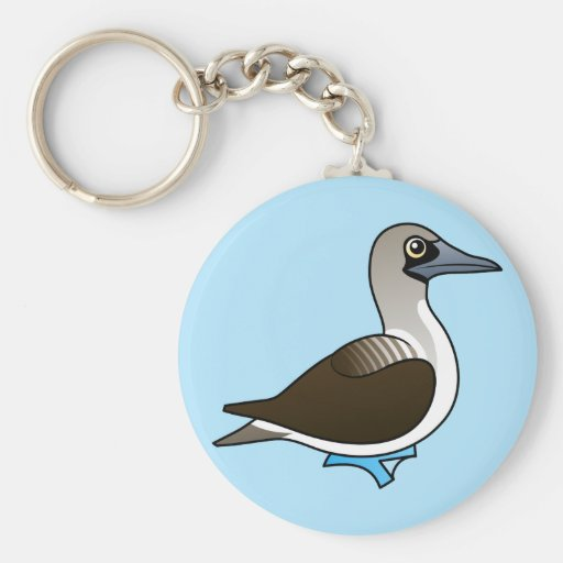 Cute Blue-footed Booby Keychain