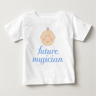 Cute Blue Future musician baby head Baby T-Shirt