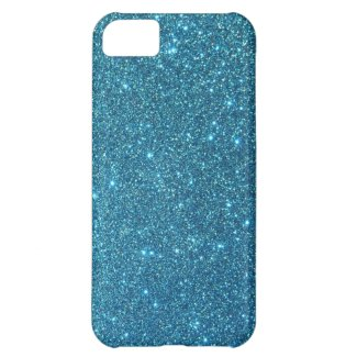 Cute Blue Glitter Sparkles Cover For iPhone 5C
