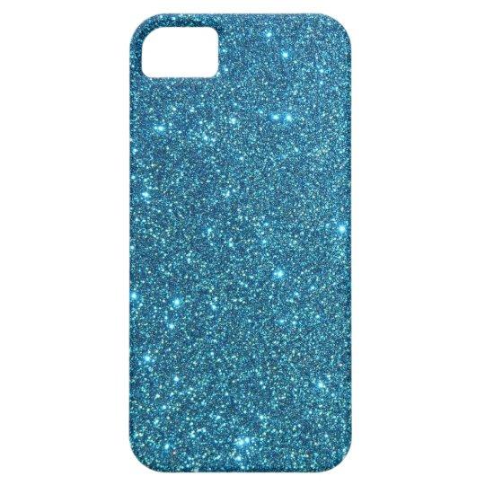 Cute Blue Glitter Sparkles iPhone SE/5/5s Case