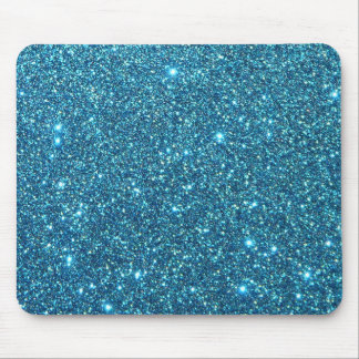 Cute Blue Glitter Sparkles Mouse Pad