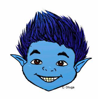 Cute blue goblin acrylic cut outs