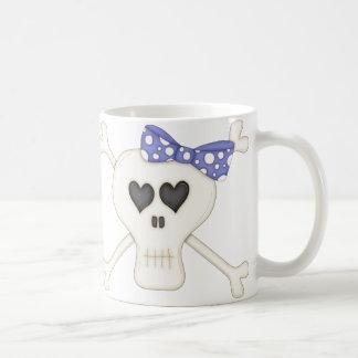 Cute Blue Goth Crossbones Coffee Mug