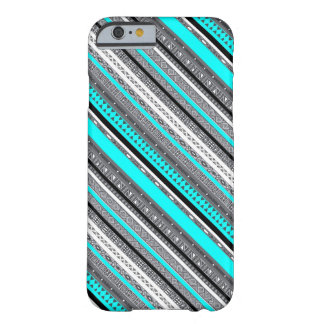 Cute blue gray aztec patterns design barely there iPhone 6 case