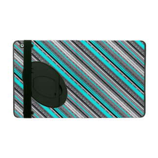 Cute blue gray aztec patterns design iPad covers