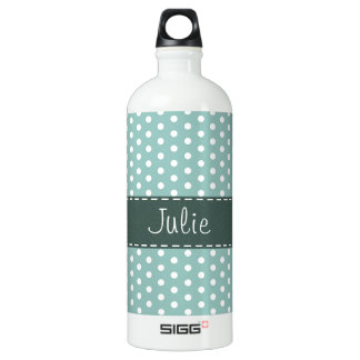 Cute Blue & Green Polka Dot SIGG Traveler 1.0L Water Bottle