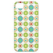 Cute Blue Green Stars inside Circles Pattern Print iPhone 5 Cover