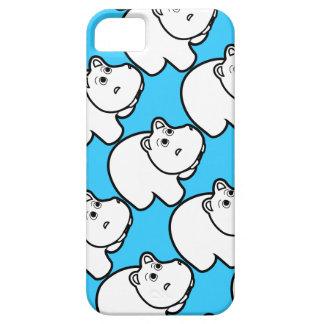 Cute Blue Hippo iPhone SE/5/5s Case
