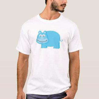 Cute Blue Hippo T-Shirt