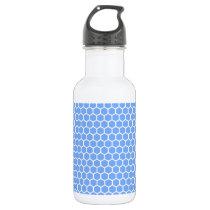 Cute Blue Honeycomb Pattern Water Bottle