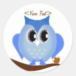 Cute Blue Hoot Owl Sticker