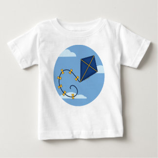 Cute Blue Kite Baby Tees