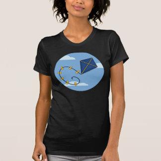 Cute Blue Kite Ladies Tees