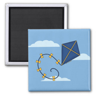 Cute Blue Kite Magnets