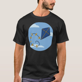 Cute Blue Kite Men's Tees