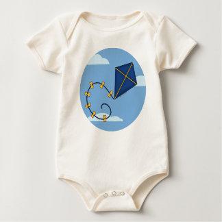 Cute Blue Kite Organic Baby Rompers