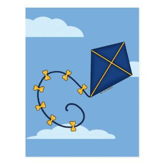 Cute Blue Kite Postcards