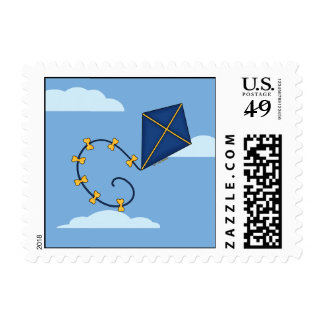 Cute Blue Kite Stamps