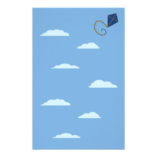 Cute Blue Kite Stationery