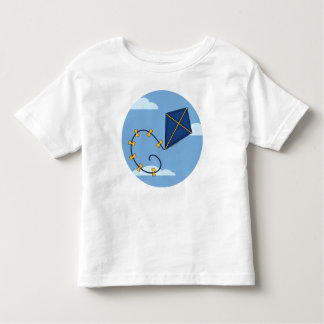 Cute Blue Kite Toddler's Tees