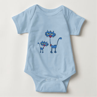 Cute blue kitten with it's Dad Shirt
