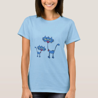 Cute blue kitten with it's Dad T-Shirt