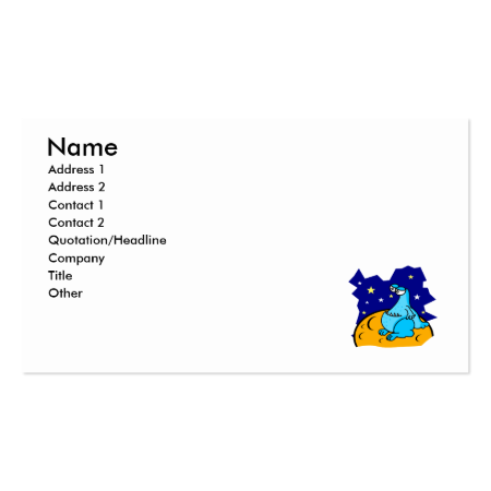 Cute Blue Martian Business Cards