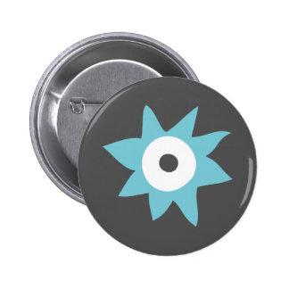 Cute Blue Monster Badge Pinback Button
