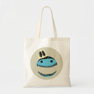 CUTE BLUE MONSTER FACE WITH HIS GHOST FRIEND BAG