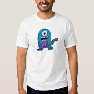 Cute Blue Monster Guitarist T Shirt